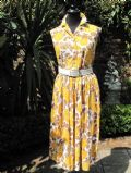 1950's Golden Yellow Rose Vintage Rayon Dress **SOLD**.